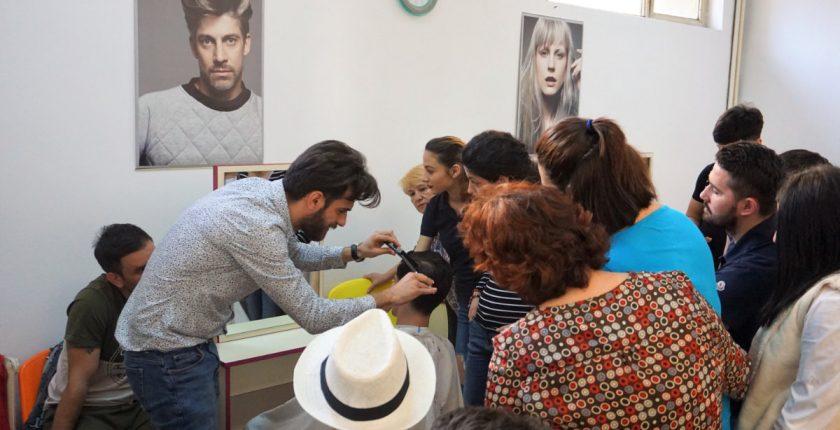 Centrul Athena Curs frizer lectie practica